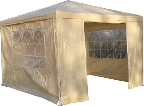 Airwave gazebo beige con pannelli laterali copertura impermeabile