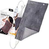 Calming Heat Massaging Weighted Heating Pad by Sharper Image- Weighted Electric Heating Pad with Massaging Vibrations, 6…