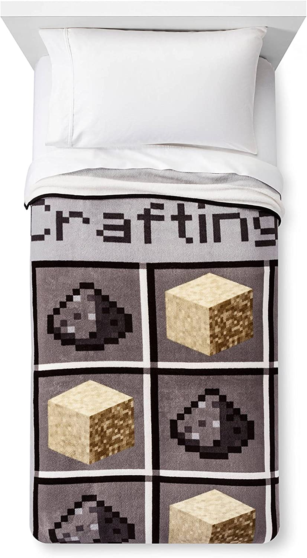 "Plush Throw Blanket Crafting Blocks 11"" x 11"" Super Soft"