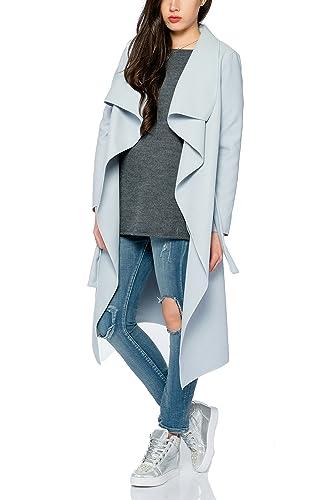 Kendindza chaqueta Abrigo de la capa de las mujer señoras gabardina con cinturón Onesize largo y cor...