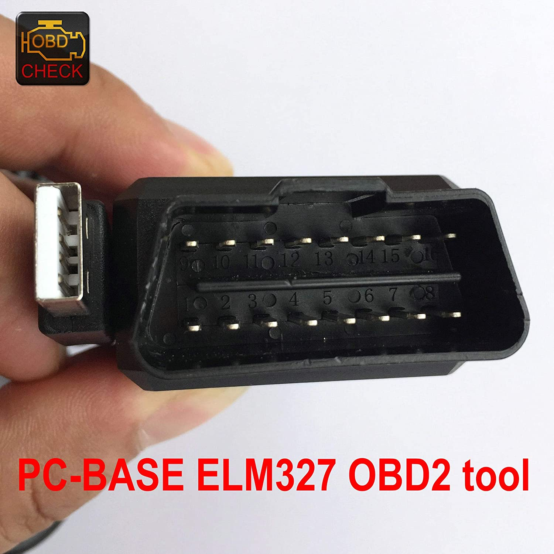 OTKEFDI ELM 327 USB OBD Diagnostic Lead,Compatible with All OBD Cars