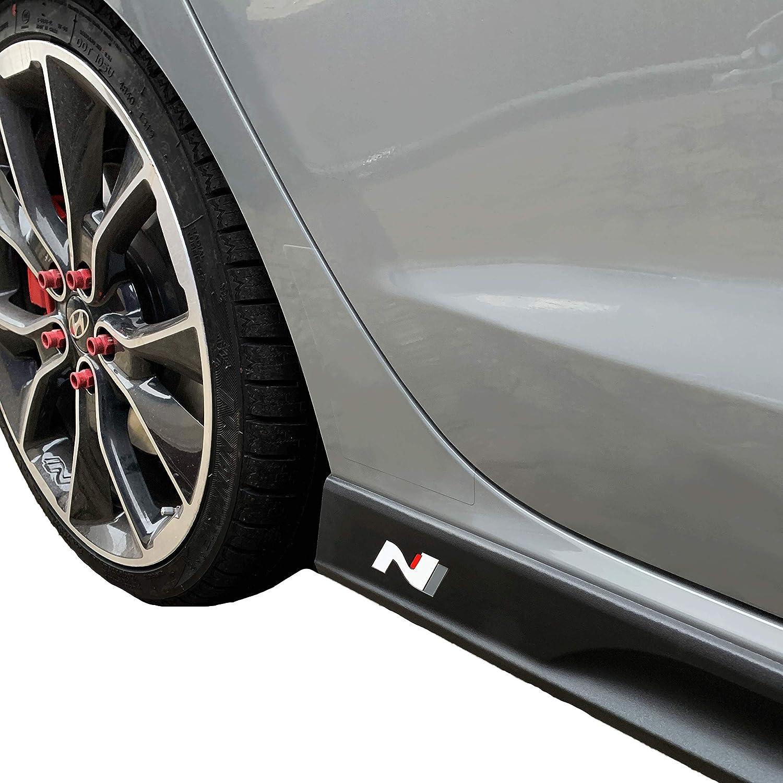 751 Oracal//3M Carbon Dekorset Car Styling PrintAttack Emblem N-Performance Seitenschweller 2er-Set Aufkleber Folie Rot//Carbon//Schwarz