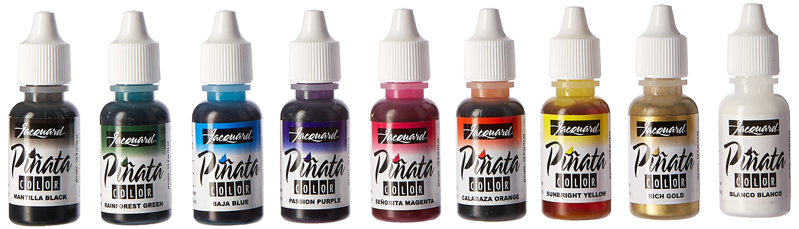 Jacquard Products Acid-Free Pinata Color Exciter Pack Ink 1/2 Ounce Assorted
