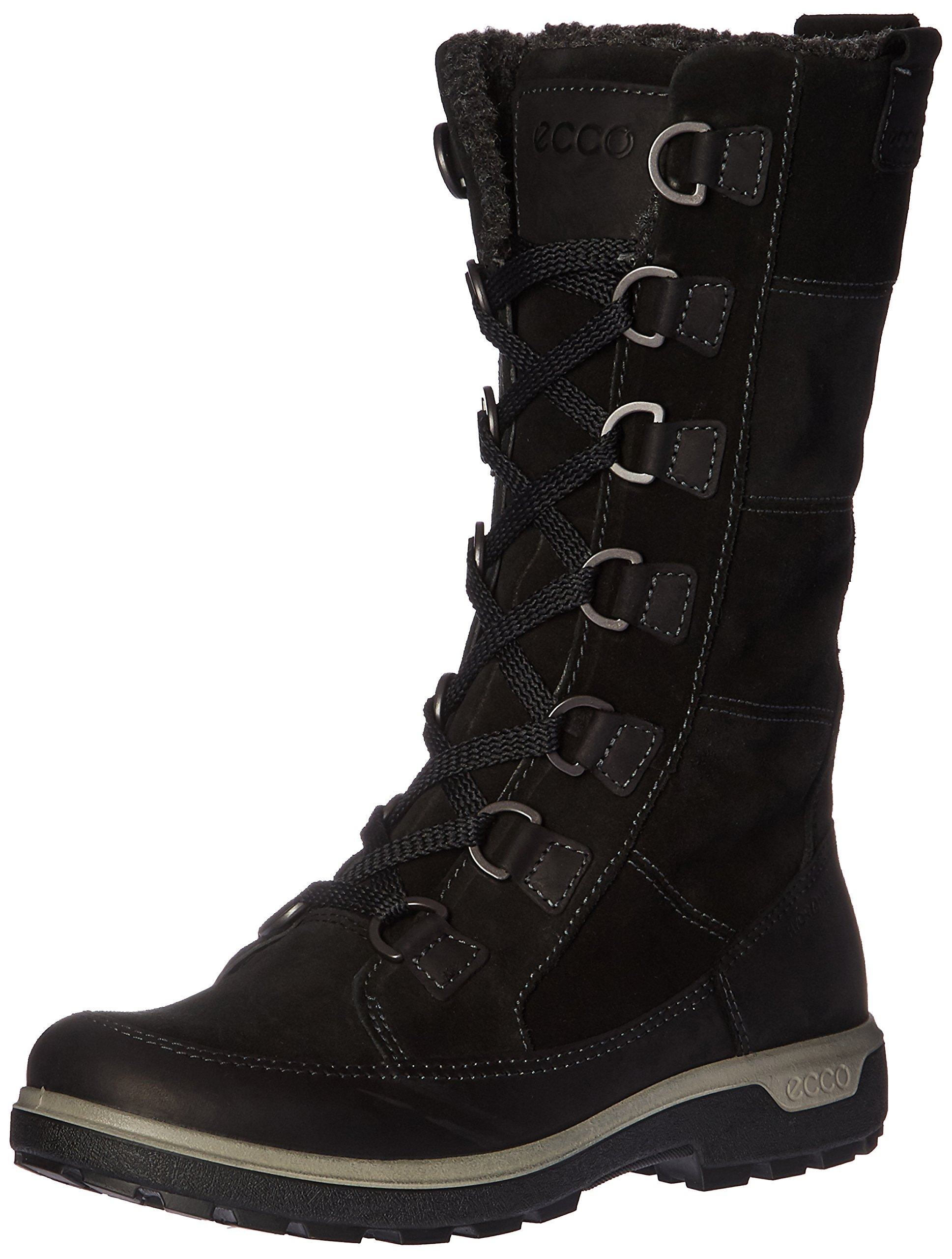 ECCO Women's Gora Tall Boot Hiking Inspired, Black, 38 EU/7-7.5 M US