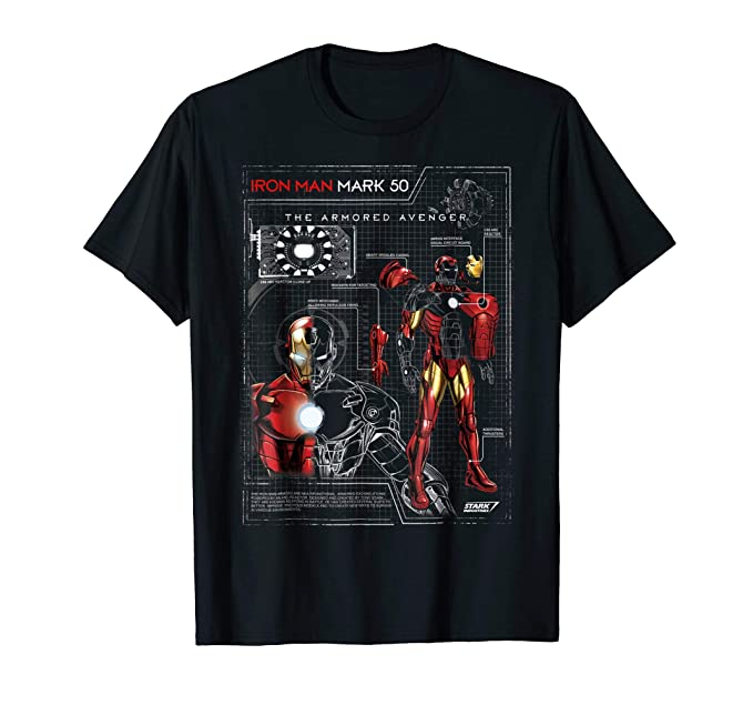 Amazon Iron Man Armor Plated Suit Blue Print Schematic Tshirt Rhamazon: Iron Man Schematics At Gmaili.net