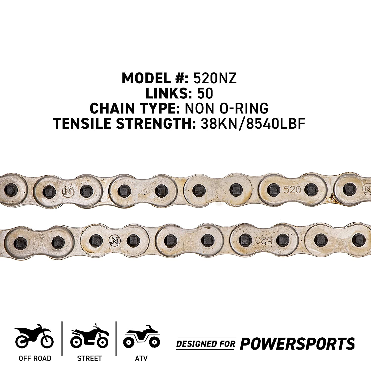 NICHE 520 Drive Chain 78 Links Standard Non O-Ring with Connecting Master Link