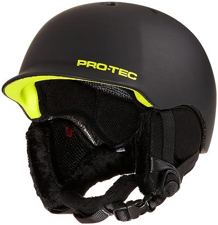 Pro-tec Riot Snow Helmet, Matte Black Citrus, Small