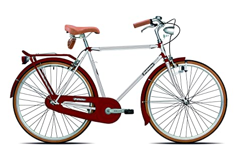 Legnano Ciclo 200 Urban Bicicletta Vintage Uomo Biancorosso 54