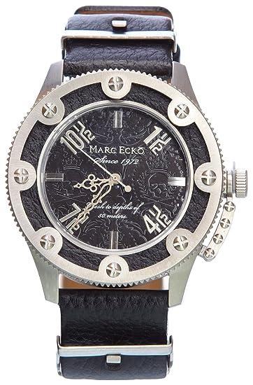 Marc Ecko Reloj Análogo clásico para Hombre de Cuarzo con Correa en Cuero  E12584G1  Amazon.es  Relojes c0d3596fb34