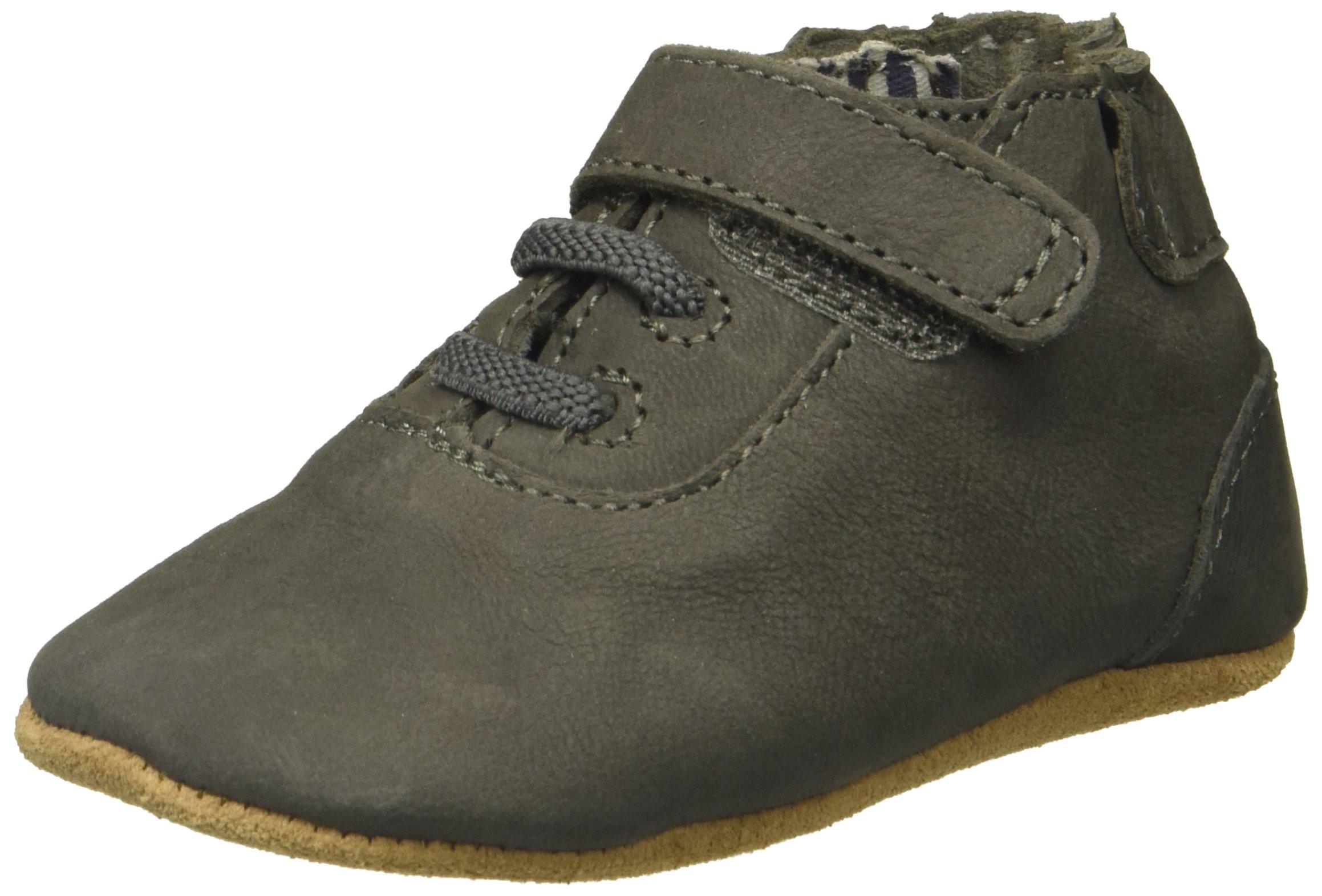 Robeez Boys' George Shoe First Kicks,Grey,12-18 mn M US Infant