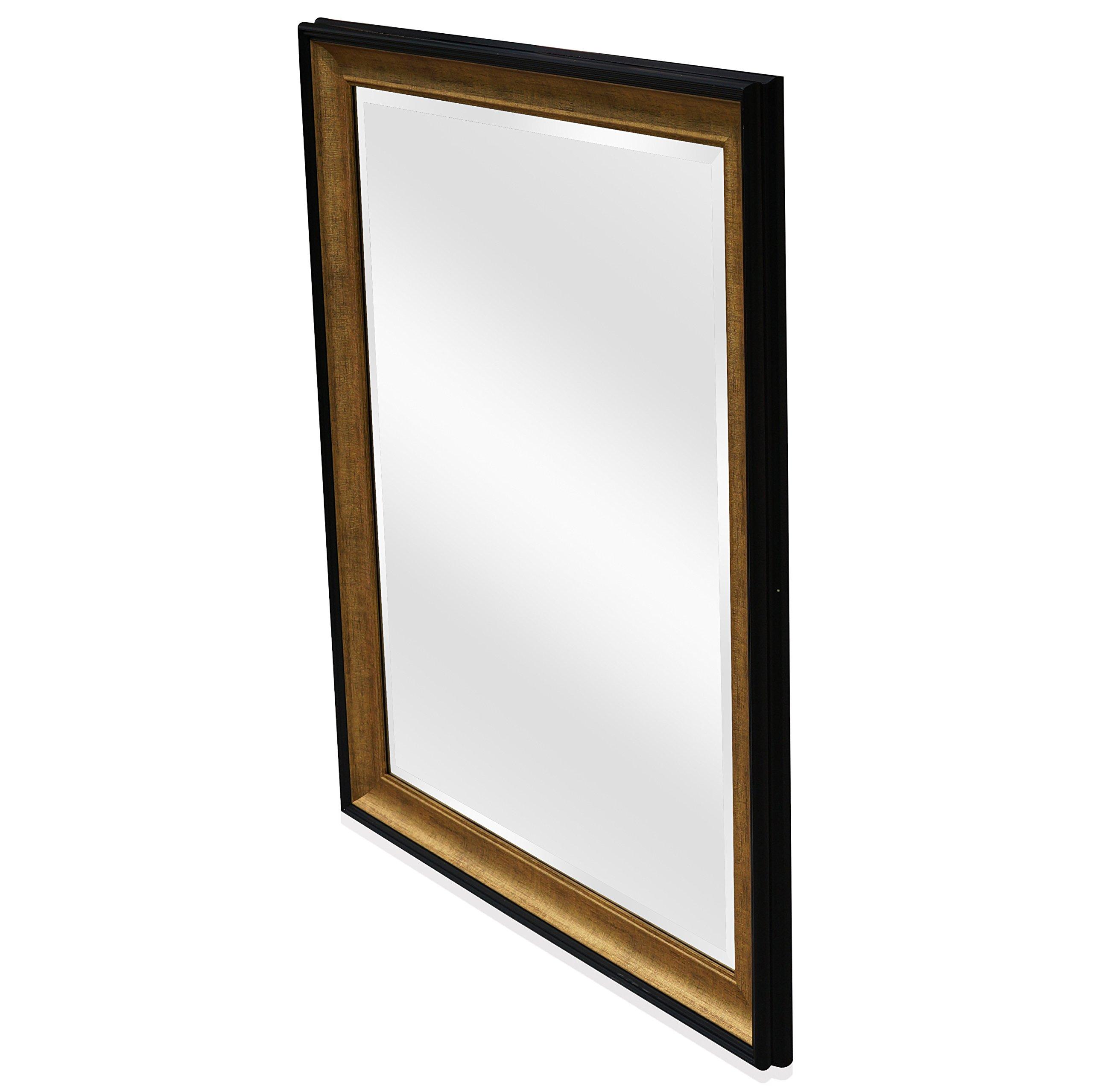Wall Beveled Mirror Framed - Bedroom or Bathroom ...