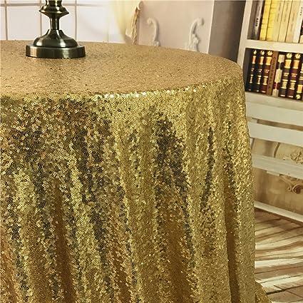 Sensational Diameter 48 Round Gold Sequin Tablecloths Gold Sequin Round Table Cloths Gold Sequin Table Linens For Wedding Home Interior And Landscaping Palasignezvosmurscom