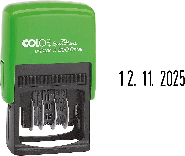 data in cifre Colop 127669/Data Timbro printer S 220/Green Line