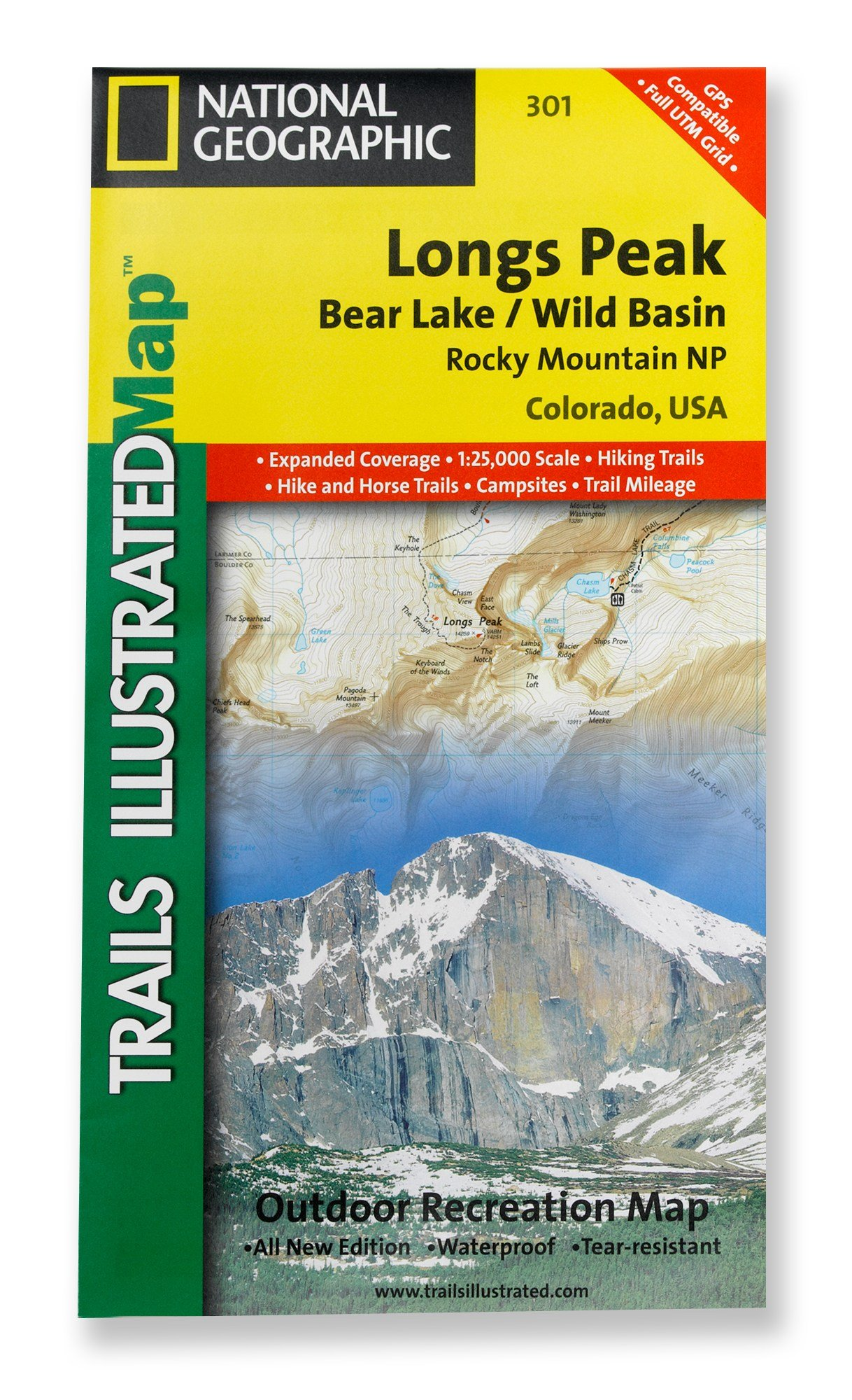 Longs Peak, Colorado Trail Map: Trails Illustrated ...