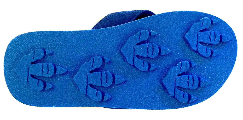 4 /– 8 Fun for Kids Animal Traks Flip Flops Slippers- Dinosaur Print Sandals for Girls and Boys .
