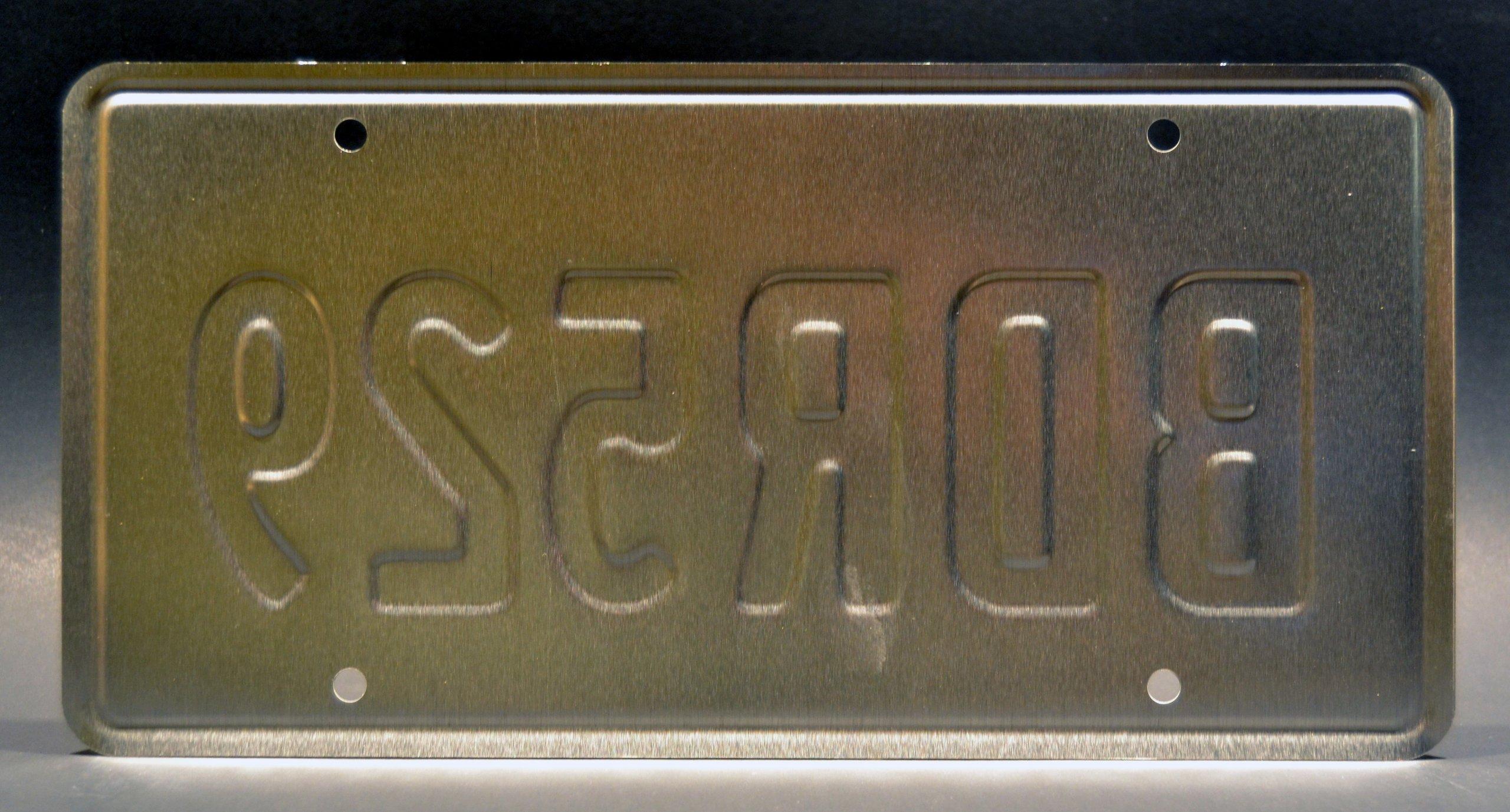 Celebrity Machines Targa in Metallo Stampata per Tom Cruise Porsche 928 N2Z 264