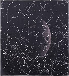 """Glow in the Dark Moon Star Constellation Tapestry Universe Space Tapestry Wall Decoration for Dorm, Apartments,Room Wall Hanging (59 """"x 79"""")"""