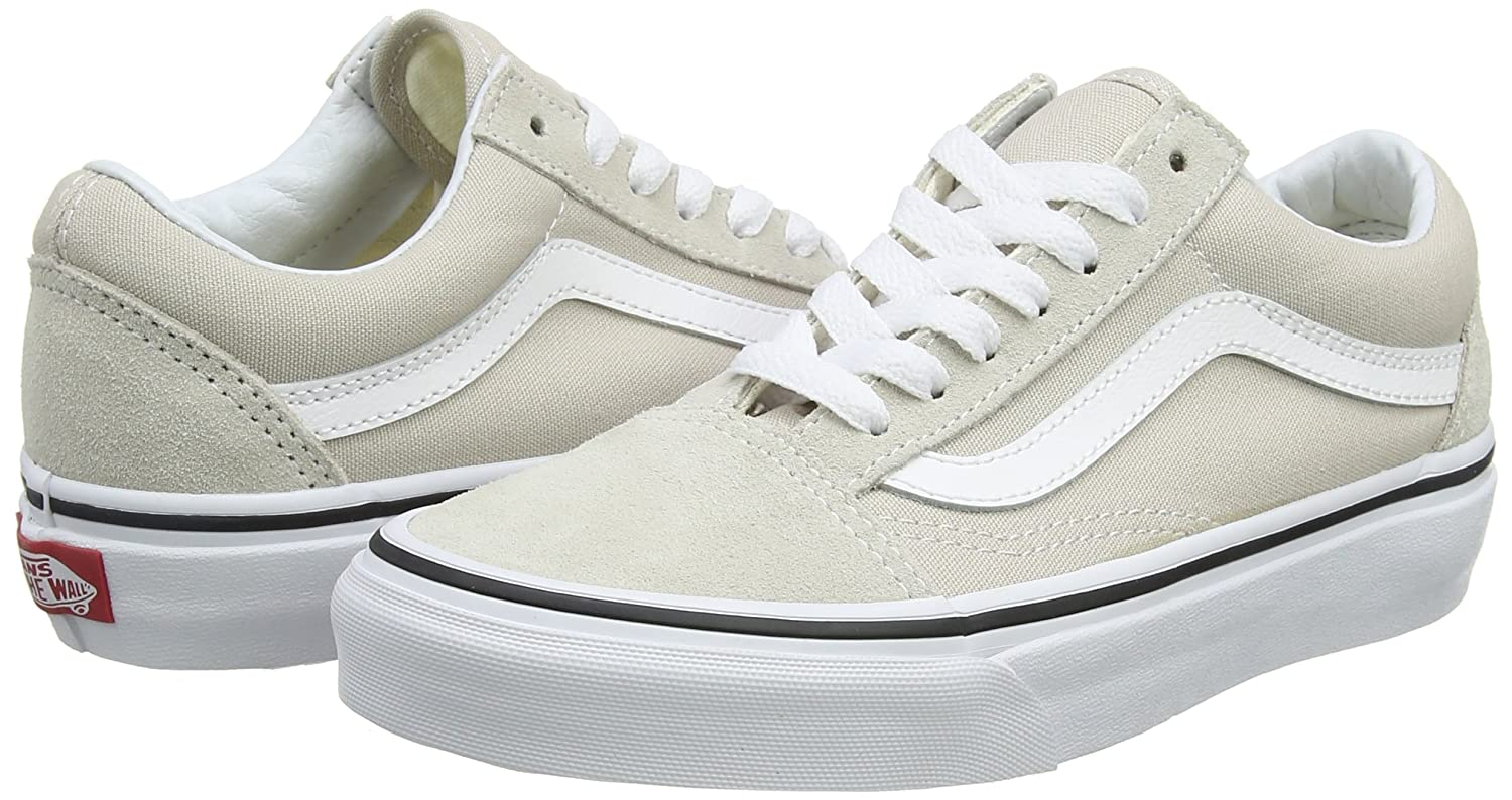 Vans Old Skool Unisex 7.5 Adults' Low-Top Trainers B074H7Q329 7.5 Unisex B(M) US Women / 6 D(M) US|Silver Lining True White fa620e