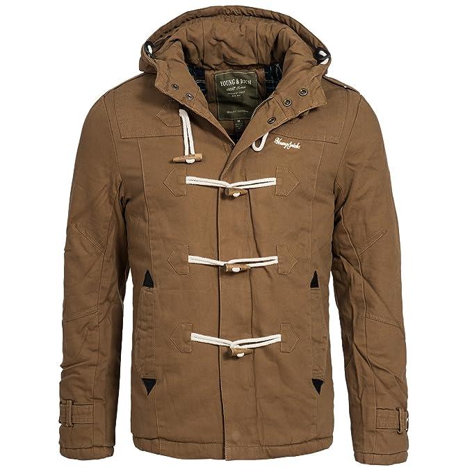 Young y marrón y bolsa de viaje para hombre chaqueta de invierno cálido abrigo para mujer chaqueta de invierno JK-414: Amazon.es: Ropa y accesorios