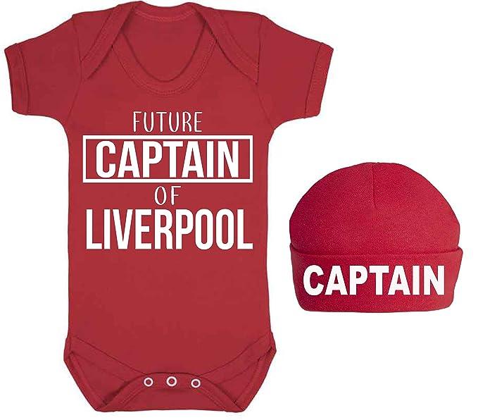 Pelele de bebé con diseño del Liverpool y la frase: «