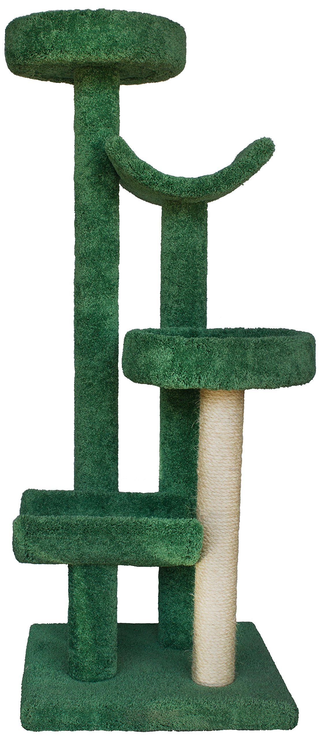 Molly and Friends MF-61-green Four-Tier Scratching Post Furniture, Green