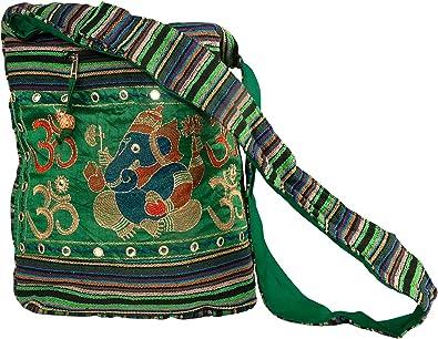 Elephant Bag Printed Cotton Bag Boho Cotton Sling Bag Thai Hippie Bag Environment Friendly Shopping Bag Lightweight Crossbody Bag