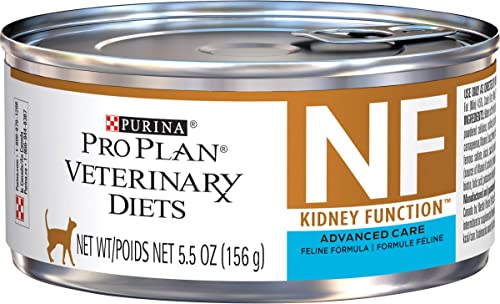 Purina Pro Plan Veterinary Diets NF Kidney Function Advanced Care Feline Formula Adult Wet Cat Food – 24 5.5 oz. Cans