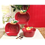 """Kitchen Decor Apple Serving Bowl Canister """"NEW"""""""