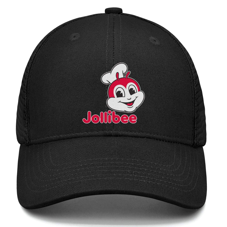 chenhou Unisex Jollibee-Logo Hat Adjustable Fitted Dad Baseball Cap Trucker Hat Cowboy Hat