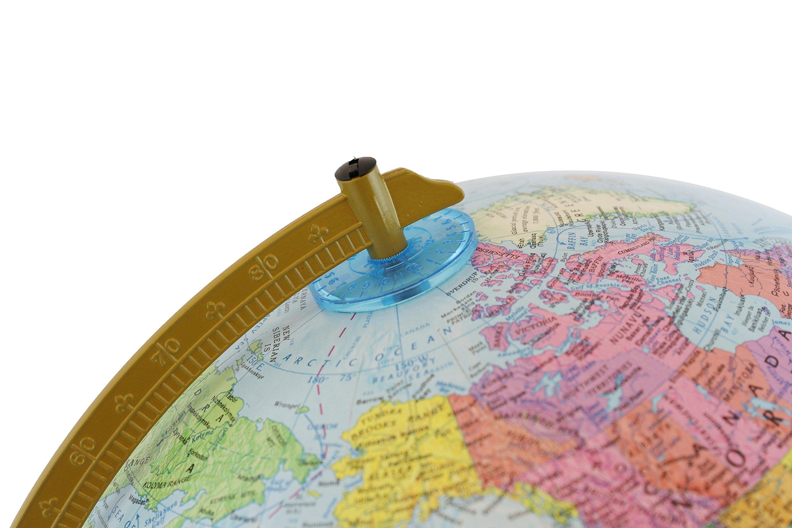 Dark Blue Ocean Replogle Globes Inflatable Topographical Globe 12-Inch Diameter