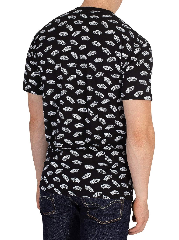 1f1e1f5cef Vans - T-Shirt - Mn All Over Distorte - Black White  Amazon.co.uk  Clothing