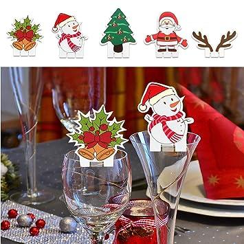 TUPARKA 25PCS Decoraciones de Mesa de Cristal de Navidad ...