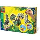SES-Creative 1406 Animali in Gesso Dinosauri, Multicolore
