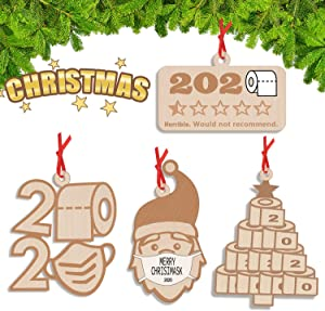 Kexle Christmas Ornaments, 2020 Christmas Ornament Quarantine Christmas Decorations Clearance Funny Home Decor 2020 Christmas Ornaments - 2020 Ornament