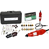 Generic 40pcs Mini Die Grinder with Flexible Shaft Rotary Tools accessories, 12pcs wire brush set, 30pcs Diamond burr set for Grinding Polishing Buffing etc