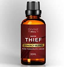Master Thief Synergy Blend Essential Oils 30 ml Pure Natural Germ Fighter Undiluted Therapeutic Grade Best Health Shield - Clove Cinnamon Lemon Rosemary Eucalyptus