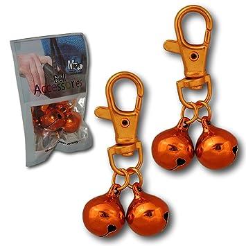 Cascabeles, 2 unidades, accesorios para bolso, monedero, cartera, llaves y teléfono, antirrobo, anticarteristas, cascabeles de alarma, naranja: Amazon.es: ...