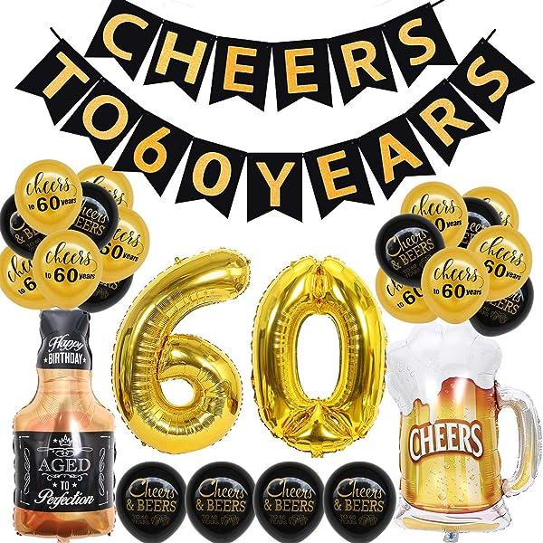 Amazon.com: Decoraciones de 60 cumpleaños para hombres ...