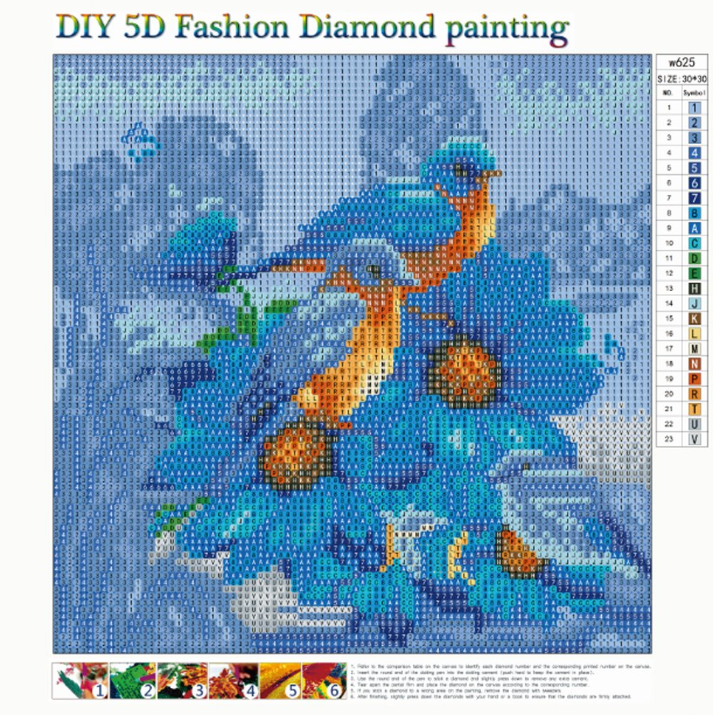 MXJSUA 5D Diamond Painting Full Drill Kits Adults Rhinestone Pasted Embroidery Cross Stitch Arts Craft Home Wall Decor 12x12inch Blue Bird