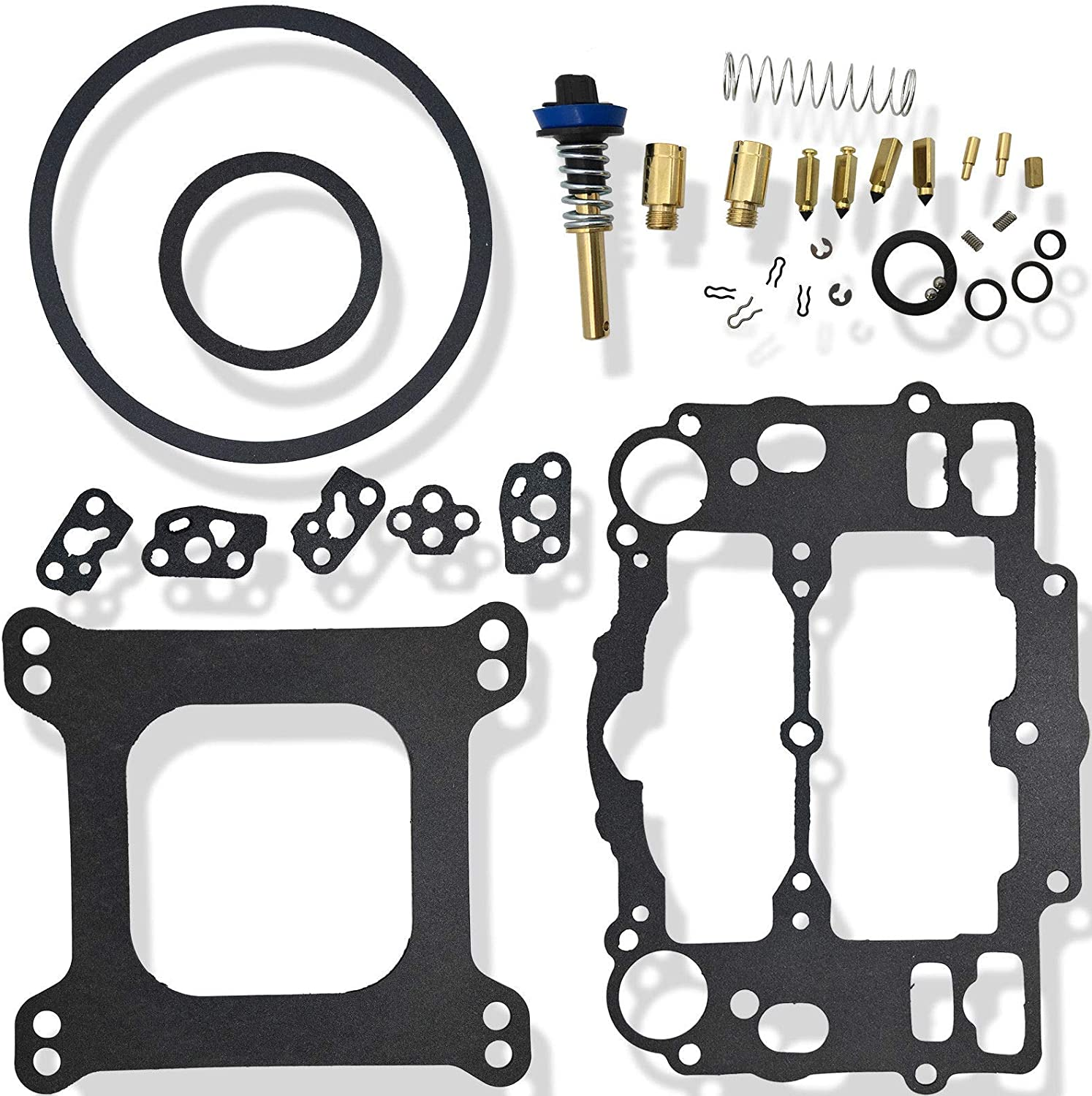 Carburetor Rebuild Repair Kit for Edelbrock 4 bbl Carb /& Carter 9000 series AFB