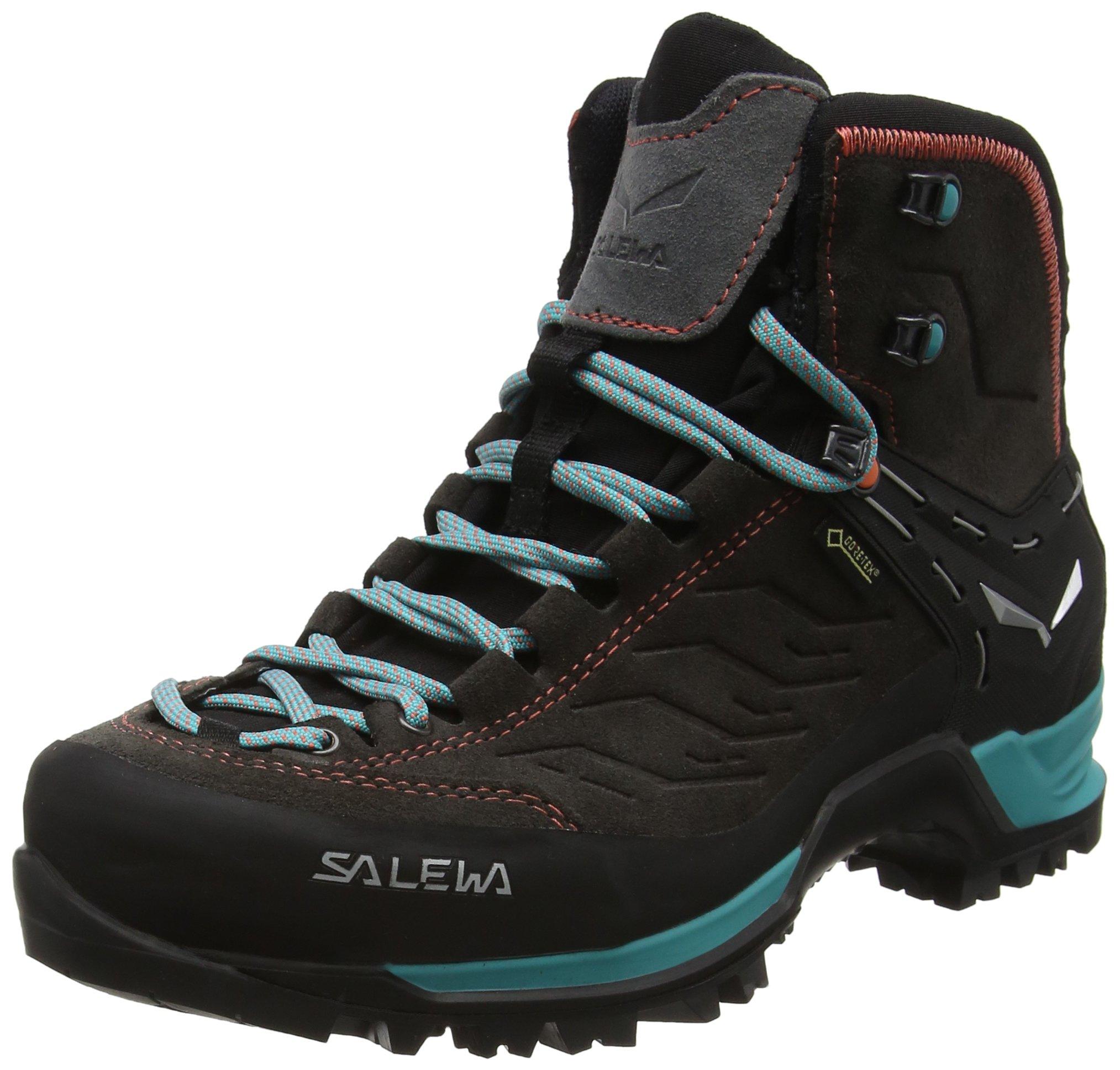 Salewa Women's Mtn Trainer Mid Gtx-W Mountaineering Boot, Magnet/Viridian Green, 8.5 D US