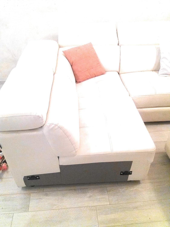 Sofá angular de piel sintética, 4 plazas, para crear un ...