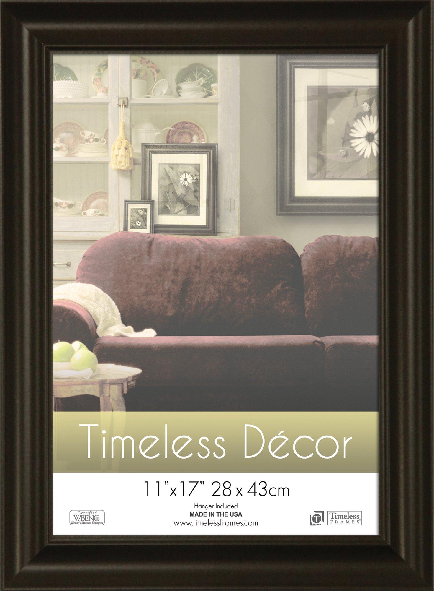 Timeless Frames 11x17 Inch Boca Picture Frame, Black