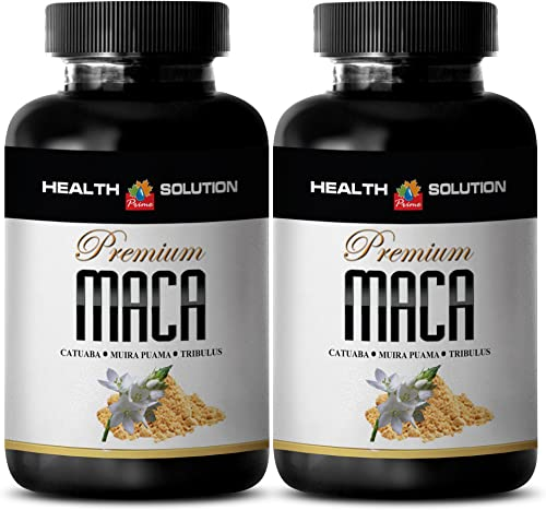 Maca Root Powder with libido – Premium MACA 1300MG – Improve Male Fertility 2 Bottles