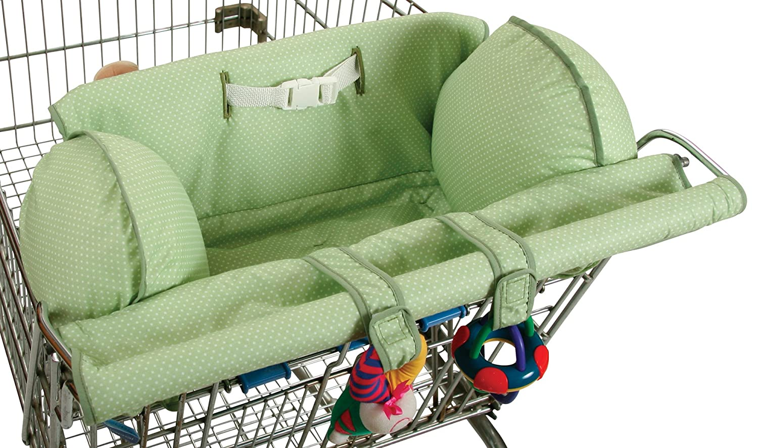 Leachco Prop 'R Shopper Shopping Cart Cover, Green Pin Dot 13563