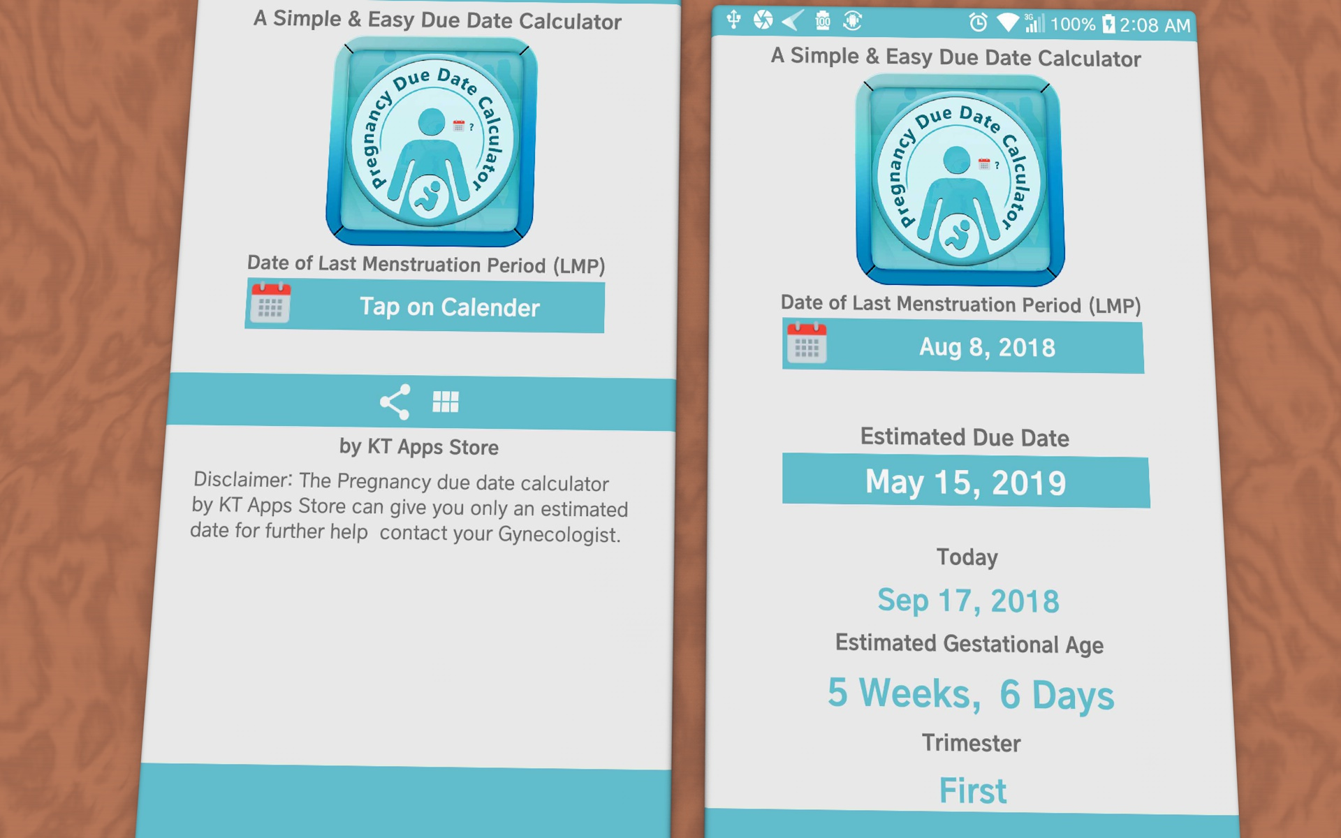 Pregnancy Due Date Calculator by KT Apps Store: Amazon com