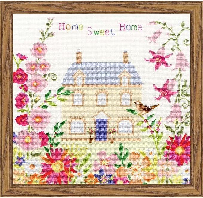 Home Sweet Home Cross Stitch Kit Amazon Co Uk Kitchen Home