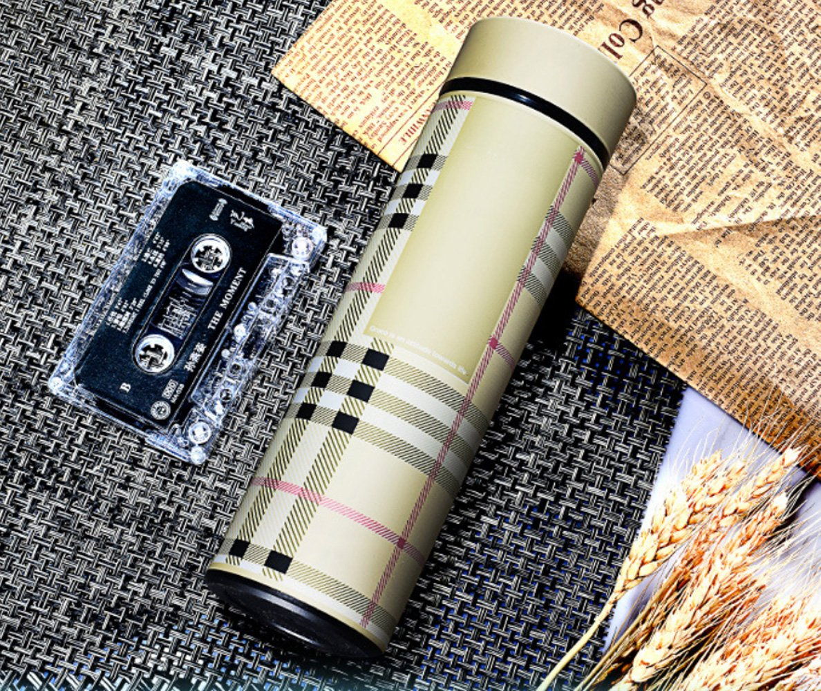 LOHOME® Vacuum Cup Beverage Bottle, 480ml Stainless Steel Insulation Cup Leakproof Travel Mug Hot Coffee and Tea Vacuum Insulated Travel Mug (Champagne)