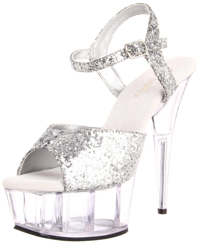 Pleaser DELIGHT-609 8441 - Sandalias de vestir para mujer 44 EU|Blanco