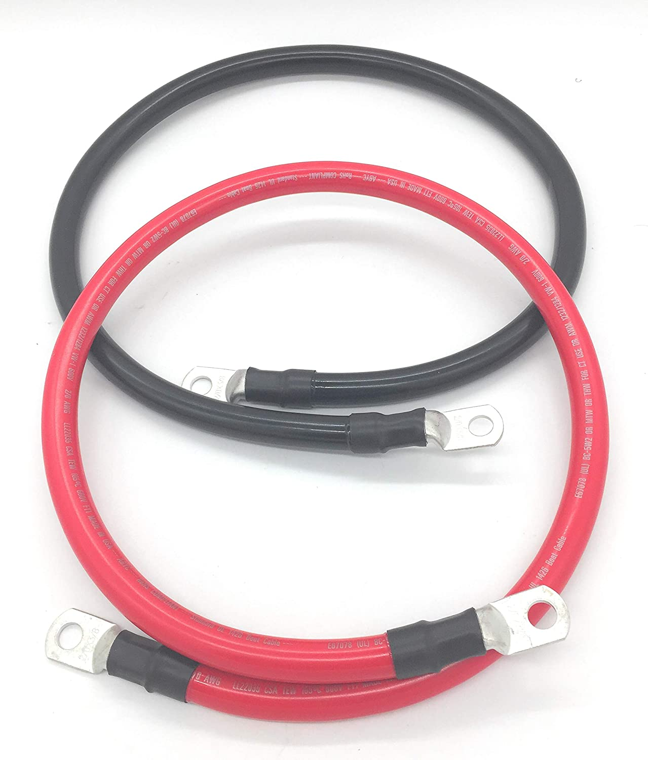 2 AWG RED BATTERY CABLE 50/' FEET MARINE BOAT